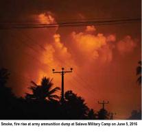 Explosion at Sri Lankan Armoury